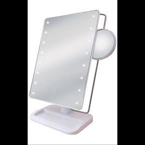 Sharper Image LED Mirror with Vanity Tray
